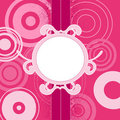 Pink background with circles Royalty Free Stock Image