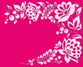 Pink background with a floral frame many similarities to the author s profile Stock Images