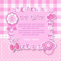 Pink background for girl Royalty Free Stock Photos