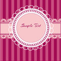 Pink background with lace vector Royalty Free Stock Images