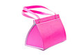 Pink bag on white background Royalty Free Stock Photo
