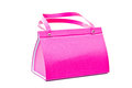 Pink bag on white background Stock Images