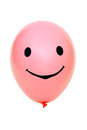 Pink balloon with eyes and mouth Royalty Free Stock Image