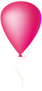 Pink balloon on a string vector illustration Royalty Free Stock Photography