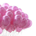 Pink balloon on white background Stock Photo
