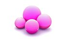 Pink balls on white background Royalty Free Stock Image