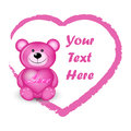 Pink bear with heart Royalty Free Stock Photo