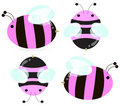 Pink bees Stock Photography