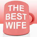 Pink Best Wife Mug Royalty Free Stock Photos