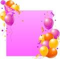 Pink Birthday card Stock Photos