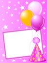 Pink Birthday card Royalty Free Stock Photo