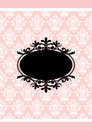Pink and black frame Royalty Free Stock Photos