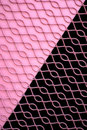 Pink and Black Grate Royalty Free Stock Images