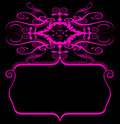 Pink black spiral banner Stock Photos