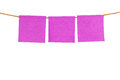 Pink blank sticky note on white background Royalty Free Stock Photo