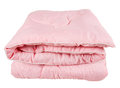 Pink blanket folded isolated on white Stock Photos