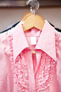 Pink blouse Royalty Free Stock Photo