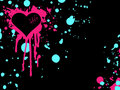 Pink and blue emo heart background Stock Photos