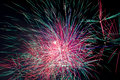 Pink, blue and green sparks fireworks Royalty Free Stock Photo
