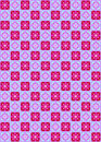 Pink and blue seamless squares Royalty Free Stock Photo
