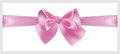 Pink bow with ribbon located horizontally beautiful made of silk Stock Images