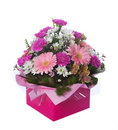 Pink Boxed Flower Arangement Royalty Free Stock Images