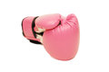 Pink boxing glove in white background isolated Royalty Free Stock Photography
