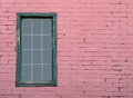 Pink brick wall and window Royalty Free Stock Photo