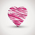 Pink broken heart Stock Photo