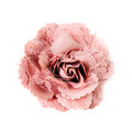 Pink brooch  flower isolated on white background Royalty Free Stock Photo