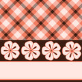 Pink brown flower plaid Royalty Free Stock Photo