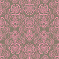 Pink and Brown Grungy Vintage Flower background Royalty Free Stock Photo