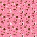 Pink & Brown Retro Polka Dots