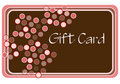 Pink and Brown Shopping Card Stock Image