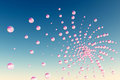 Pink bubbles Royalty Free Stock Photography