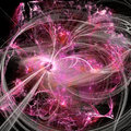 Pink Bubbles Fractal Concept With Light Waves Royalty Free Stock Photo
