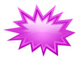 Pink burst vector icon isolated on white Royalty Free Stock Image