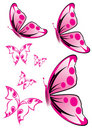 Pink Butterfly Illustration Royalty Free Stock Photography