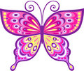 Pink Butterfly Vector Illustra...