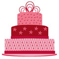 Pink cake for birthday Stock Photos