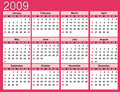 Pink Calendar for 2009 Royalty Free Stock Photo