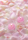 Pink candles Royalty Free Stock Photography
