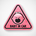 Pink car sticker Royalty Free Stock Photo
