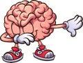 Pink cartoon brain dabbing
