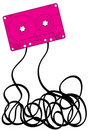 Pink cassette tape Stock Images