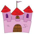 Pink castle Stock Photos