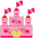 Pink castle adorable for little girls Stock Photo
