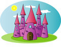 Pink Castle of the fairy tale Stock Photo