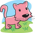 Pink Cat Royalty Free Stock Photo