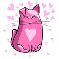 Pink cat. Royalty Free Stock Photo